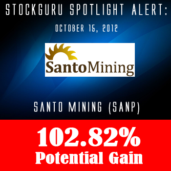 Spotlight Success Update: Santo Mining Corp (SANP) with a Potential Gain of 102.82%