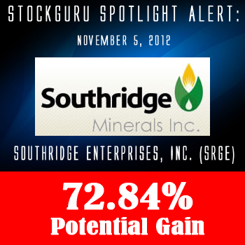 Spotlight Success Update: Southridge Enterprises, Inc. (SRGE) with a Potential Gain of 72.84%