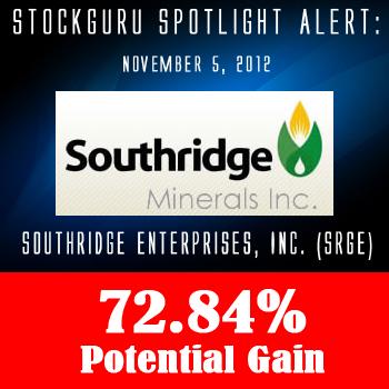 Spotlight Success Update: Southridge Enterprises, Inc. (SRGE) with a Potential Gain of 72.84%