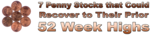 Seven Penny Stocks that Could Recover to Prior 52 Week Highs