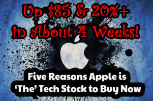 "July 5th We Gave You ""Five Reasons Apple is 'The' Tech Stock to Buy Now,"" And it's Up $85 and 20%"