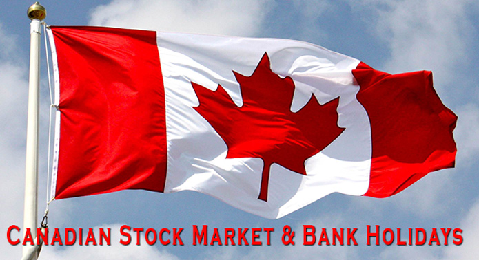 Canadian Stock Market Holidays 2016 and 2017