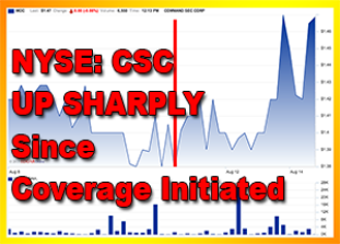 NYSE: CSC Up Sharply Since Inclusion in Our Seven Stocks Likely to Beat Their 52 Week High, News Out Today on Earnings