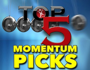 Included in the Five Penny Stock Momentum Picks for Monday: $EHOS $APPZ $PWDY $BCYP $ELTP