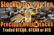StockGuru Announces its Top Ten Precious Metal Stocks for 2015