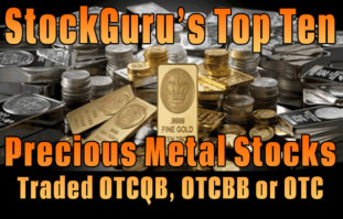 StockGuru Announces its Top Ten Precious Metal Stocks for 2015