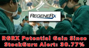 Update: RGRX Up 30.77% Since Our Alert 4 Market Days Ago