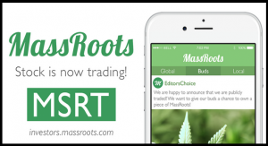 Cannabis Technology Company MassRoots Files Application to Have Its Common Stock Uplisted to the NASDAQ Capital Market